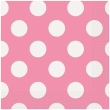 Hot Pink Polka Dot Luncheon Napkins, 16ct