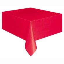 "108"" x 54"" Plastic Red Tablecloths, 2ct"