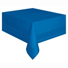 "108"" x 54"" Plastic Royal Blue Tablecloths, 2ct"