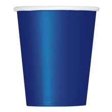 9oz Navy Blue Paper Cups, 14ct