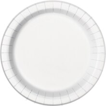 "9"" White Party Plates, 16ct"