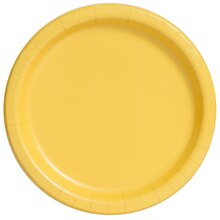 "7"" Yellow Party Plates, 20ct"