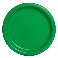 """7"""" Green Party Plates, 20ct"""