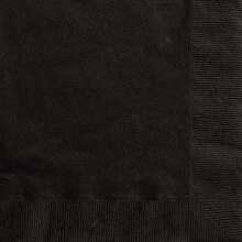 Black Beverage Napkins, 20ct