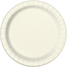 "7"" Ivory Party Plates, 20ct"
