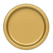 """7"""" Gold Party Plates, 20ct"""