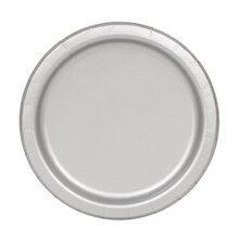 "7"" Silver Party Plates, 20ct"