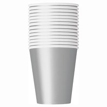 9oz Silver Paper Cups, 14ct