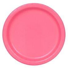 "7"" Hot Pink Party Plates, 50ct"