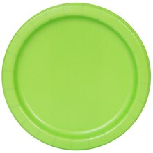 "7"" Lime Green Party Plates, 50ct"