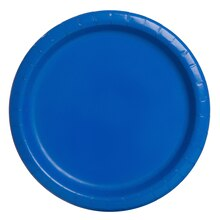 """7"""" Royal Blue Party Plates, 50ct"""