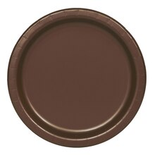 """7"""" Brown Party Plates, 20ct"""