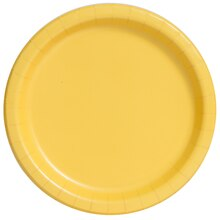 "7"" Yellow Party Plates, 50ct"