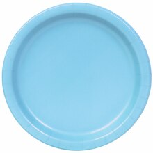 "7"" Light Blue Party Plates, 50ct"