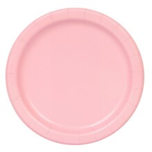 "7"" Light Pink Party Plates, 50ct"