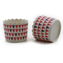 Red & Blue Flag Print Treat Cups By Celebrate It