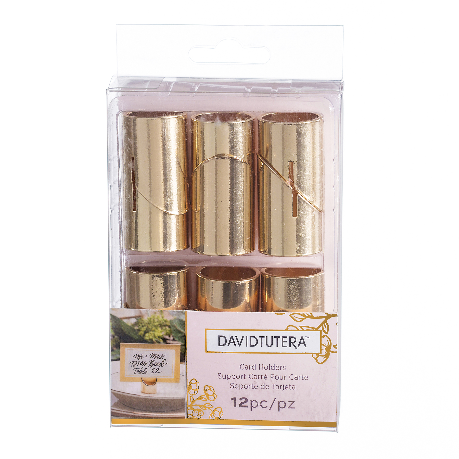 david tutera gold place card holders package