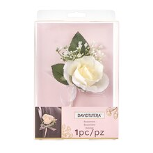David Tutera Roses & Beads Groom Boutonniere Package