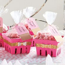 Fuchsia Treat Berry Baskets, medium