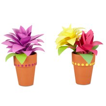 Mom & Me 3D Paper Flower Pot, medium