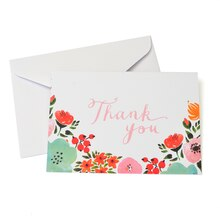 Celebrate It Multicolored Floral Thank You Cards & Envelopes