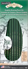 General's No 25 Kimberly Graphite Drawing Pencil Kit