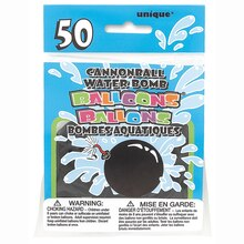 Cannonball Opaque Black Water Balloons, 50ct