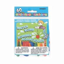 Assorted Shape and Color Water Balloons, 60ct