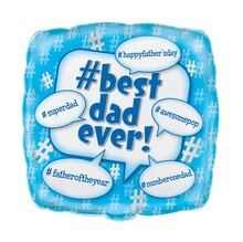 Square Foil Best Dad Father's Day Balloon, 18""