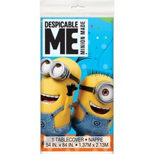 "Plastic Despicable Me Minions Tablecloth, 84"" x 54"" Package"