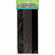 Black Cellophane Bags, 30ct