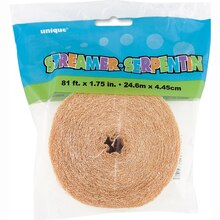 Crepe Paper Cream Streamers, 81 Ft. Packaged
