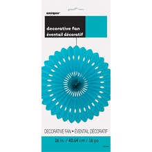 "Teal Tissue Paper Fan Decoration, 16"" Package"