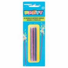 """4"""" Sparkler Birthday Candles, Assorted 18ct"""