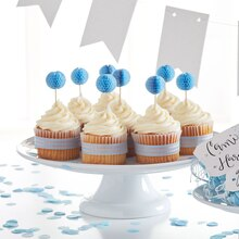 Light Blue Honeycomb Cupcakes, medium