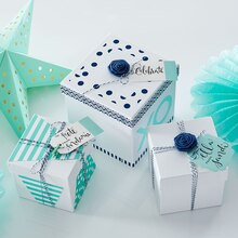 Navy & Mint Gift Boxes, medium