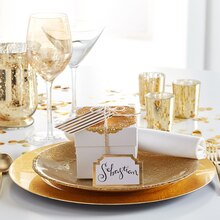 Gold Place Setting with Gift, medium