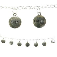 Bead Gallery Silver Plated Inspirational Message Beads Close Up