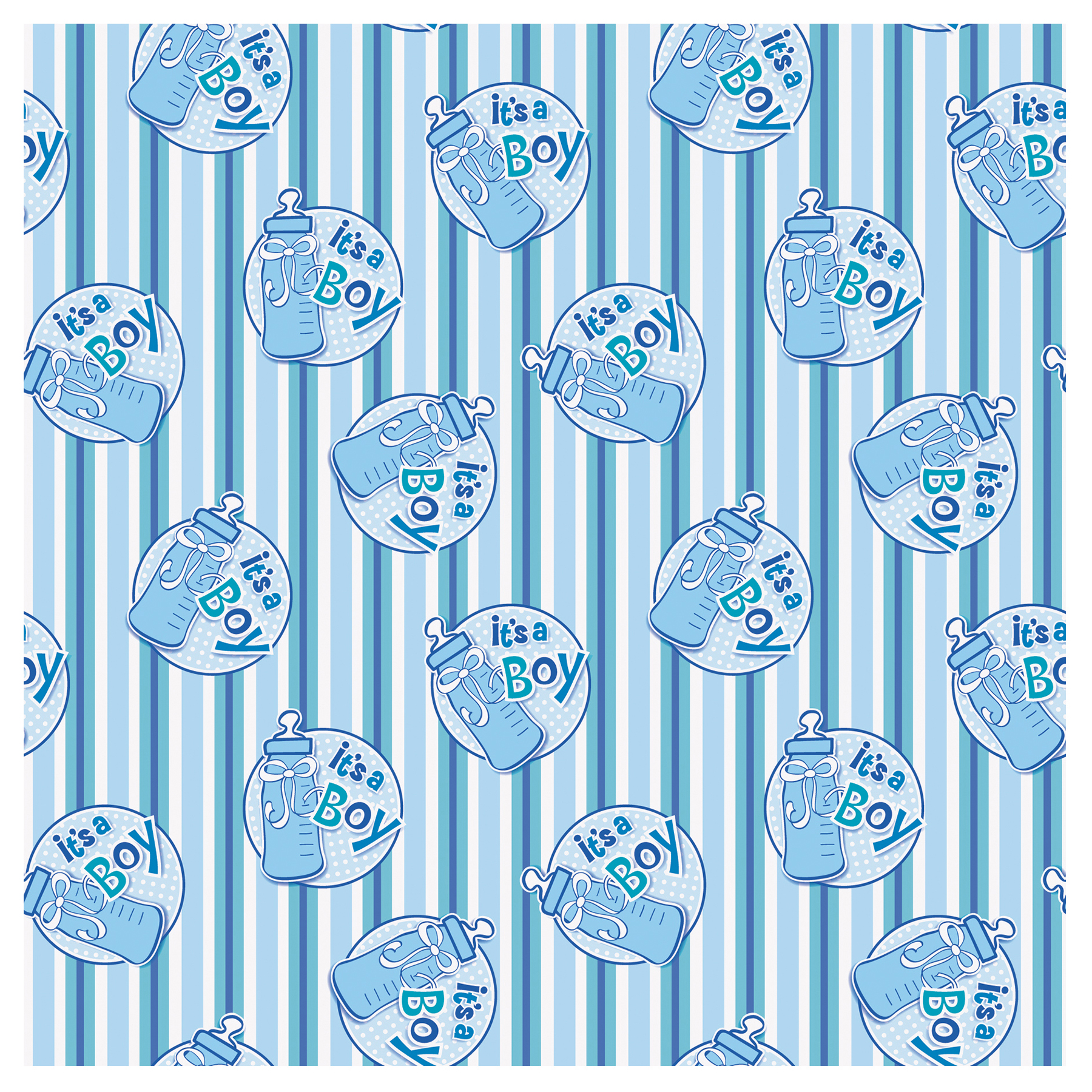 Itu0027s A Boy Baby Shower Wrapping Paper