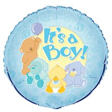Foil Baby Animals It's A Boy Baby Shower Balloon, 18""