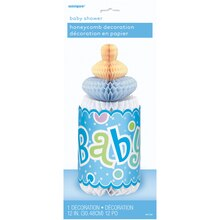 "12"" Blue Polka Dot Boy Baby Shower Centerpiece Decoration Packaged"