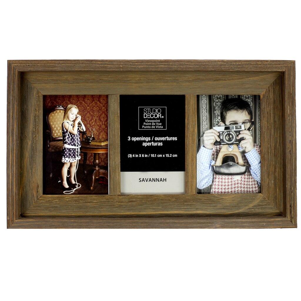 Barnwood 3-Opening Collage Frame, 4\