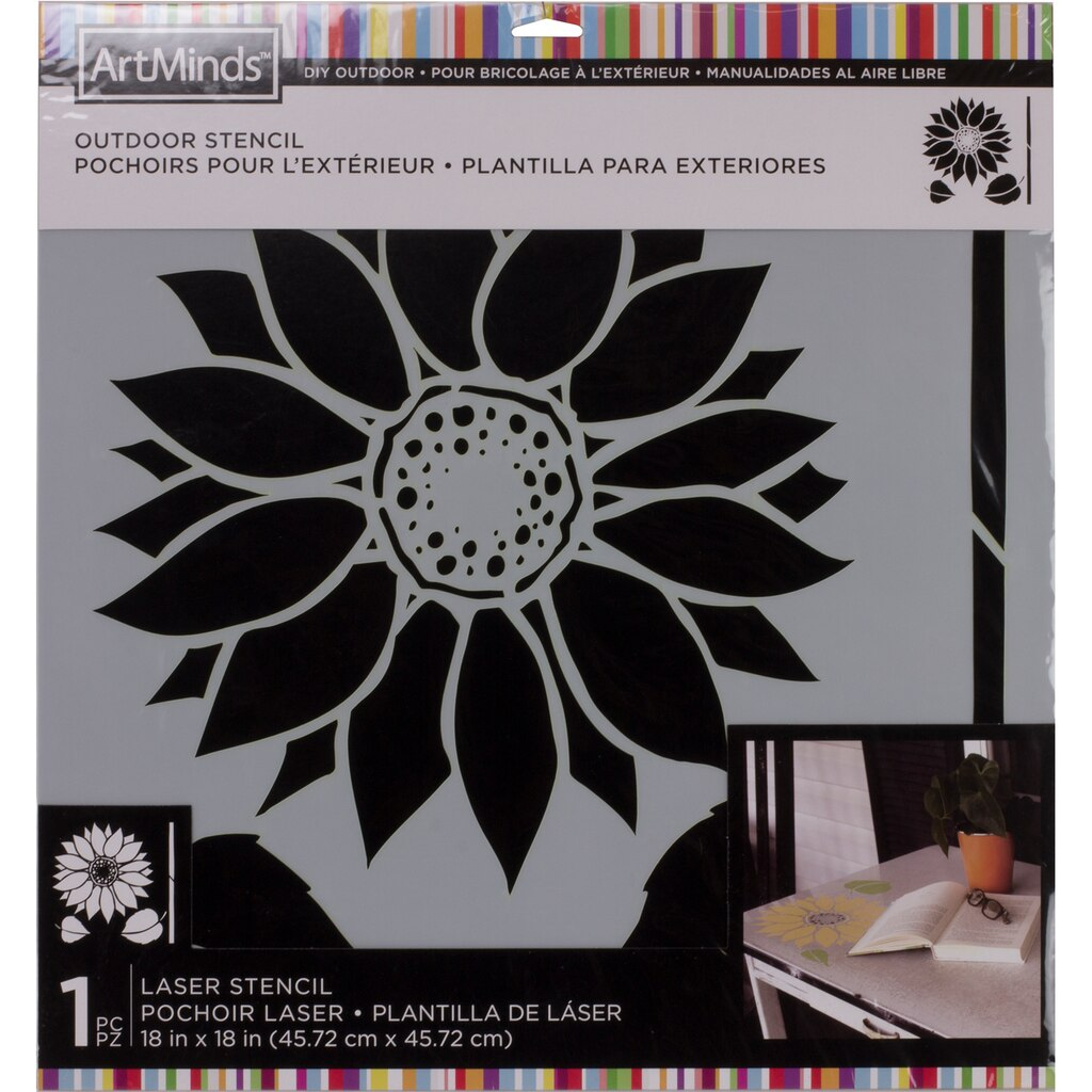 The Sunflower Outdoor Laser Stencil By Artminds At Michaels