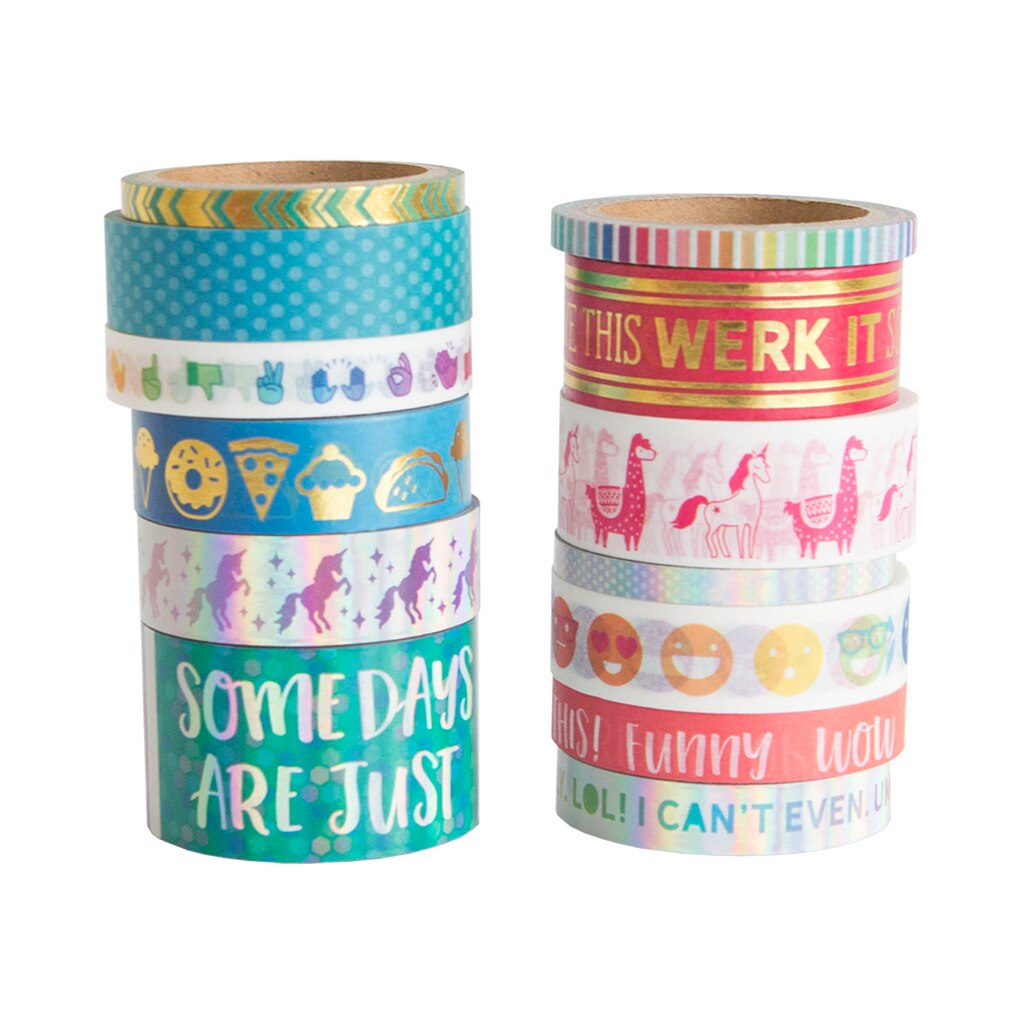 find the emoji washi tape pouch by recollections at michaels. Black Bedroom Furniture Sets. Home Design Ideas