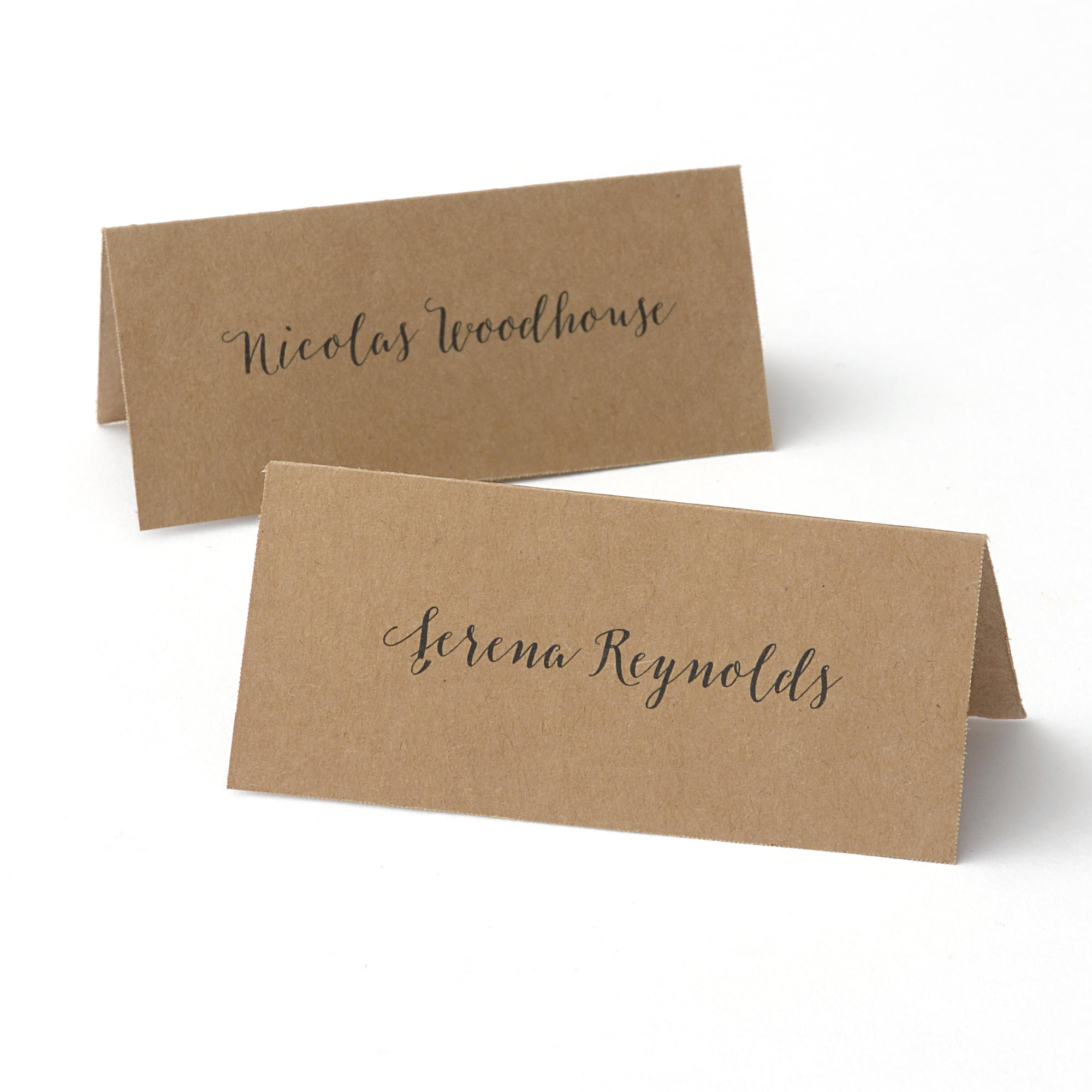 printable kraft place cards by celebrate it