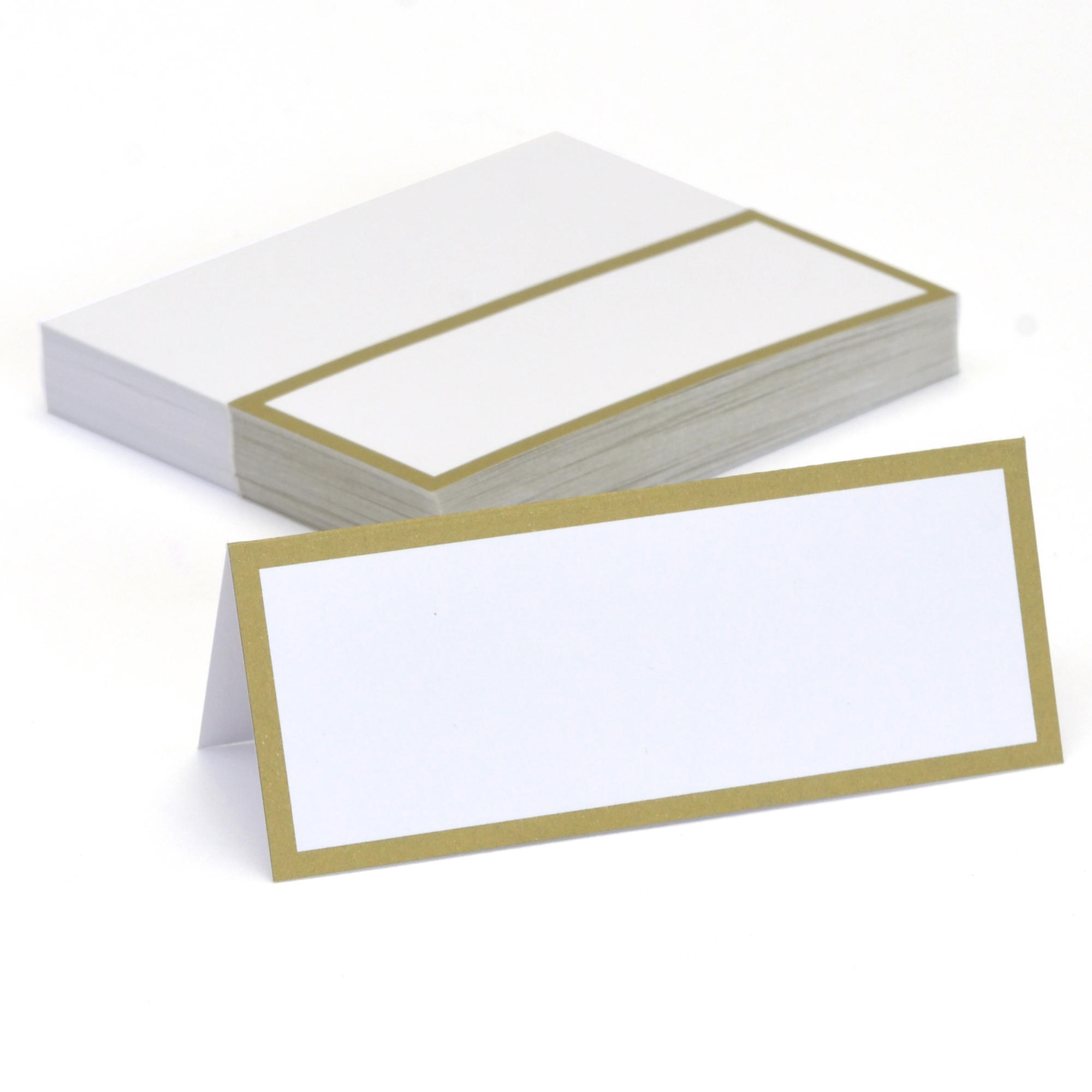 gold border place cards by celebrate it