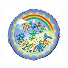 Foil Happy Retirement Balloon, 18""