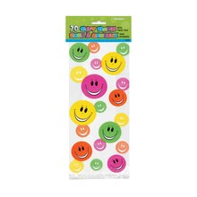 Happy Face Cellophane Bags, 20ct, medium