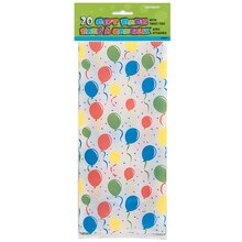 Festive Balloons Cellophane Bags, 20ct