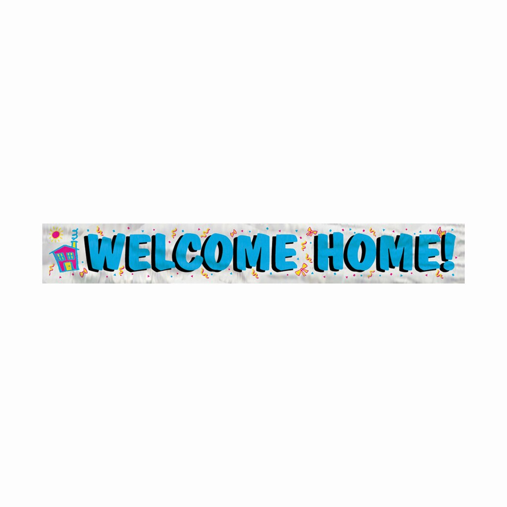 Foil Welcome Home Party Banner | Homecoming Party Decorations